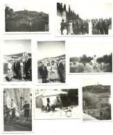 Bouches Du Rhone, Orgon, Vues, Mariage, Neige, Velos, Bel Ensemble, Lot De 8 Photos    (bon Etat) Dim: 8.5 X 5.5 - Lieux