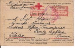 PRIGIONIERI DI GUERRA ITALIANI-STAMMLAGER MAUTHAUSEN-AUSTRIA-1916-TIMBRO FRANCHIGIA,PER PONTE CAFFARO,BAGOLINO,BRESCIA - 1914-18