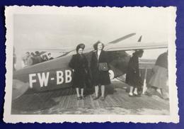 Photographie Photo  Aviation Avion à Identifier Jeune Femme FW BB - Aviation