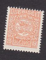 Schleswig, German Plebiscite, Scott #7, Mint Never Hinged, Arms, Issued 1920 - Schleswig-Holstein