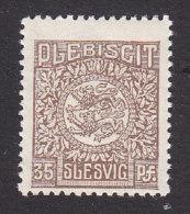 Schleswig, German Plebiscite, Scott #8, Mint Never Hinged, Arms, Issued 1920 - Schleswig-Holstein