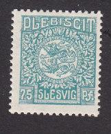 Schleswig, German Plebiscite, Scott #10, Mint Never Hinged, Arms, Issued 1920 - Schleswig-Holstein