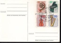 ALLEMAGNE Carte 1993  Musique Piano Cor Violon Harpe - Music