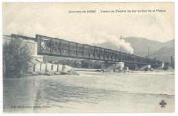 Cpa Environs De Digne - Viaduc Du Chemin De Fer Du Sud De La France ( Train ) - Digne