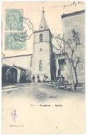 Cpa Faugères - Eglise - France