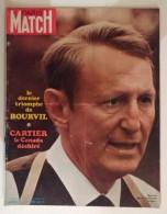 Paris Match N°1121 31/10/1970 Bourvil - Auto Salon Turin - Charles Manson - Faye Dunaway - Forsyte - Cevert - Jean Effel - Informations Générales