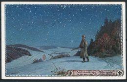 1915 Germany Patriotic Postcard / Gluckliches Neujahr Mitternacht Feldpost - Patriotic