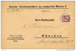 18881. Carta  Oficial MUNCHEN 1935. Alemania Imperio. Servicio, Ervice - Oficial