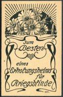 Germany Patriotic Postcard /  Wohlfahrtspostkarte Kriegsteilnehmere Hamburg - Patriotic