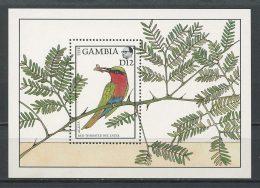 GAMBIE 1988 Bloc N° 43 ** Neuf = MNH Superbe Cote 7 € Faune Oiseaux Birds Guêpier Animaux Flore Acacia Arbres Trees - Gambie (1965-...)