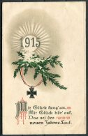 1915 GermanyMilitary Feldpost Neuen Johres Lauf New Year Postcard - Patriotic