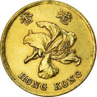 Monnaie, Hong Kong, Elizabeth II, 50 Cents, 1997, TTB, Brass Plated Steel, KM:68 - Hongkong