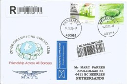 Croatia 2016 Nedelisce Water Environment Electricity Wind Tera Printer Meter Franking Barcoded Registered Cover - Kroatien
