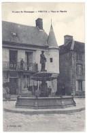 Cpa Vertus - Place Du Marché ( Fontaine ) - Vertus