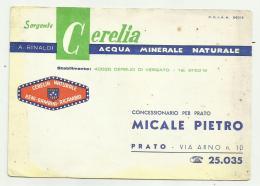 SORGENTE CERELIA ACQUA MINERALE CM.14,5X10,5 - Advertising