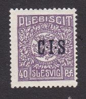 Schleswig, German Plebiscite, Scott #O9, Mint Hinged, Arms Overprinted, Issued 1920 - Schleswig-Holstein