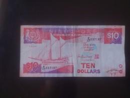 Singapore 10 Dollars Used - Singapore