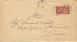 Arpino. 1903. Annullo Grande Cerchio Su Lettera Affrancata - 1900-44 Vittorio Emanuele III