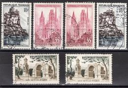 FRANCE 1957 - LOT - 2 X 1127 / 2 X 1129 / 2 X 1130 - 6 TP OBLITERES - FF715 - Francia