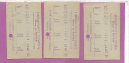 3  TICKETS TRANSPORT CITROEN  RESEAU DE NANTES  GARE AUTOMOBILE  1953 - Titres De Transport