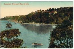 RB 1113 - 1917 Australia Postcard - Boats Cremorne - Mossman's Bay Sydney NSW - New South Wales - Sydney