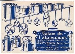 Palais De L'Aluminium Kitchenware Business 57 Chausee D'Anvers Bruxelles Brussels Near Gare Du Nord, C1930s/50s Postcard - Brussels (City)