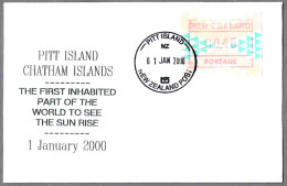 PITT ISLAND - First Inhabited Part Of The World To See The Sun Rise - Cambio De Milenio. Pitt Island 2000 - Relojería