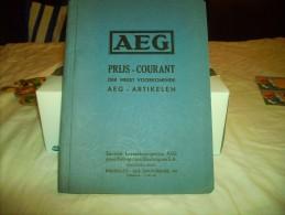 * AEG *-PRIJS -COURANT----1934. - Pratique