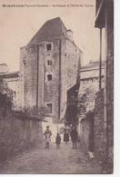 CPA 82 - MONTRICOUX - LE DONJON ET L'ALLEE DE L'EGLISE (CARTE PEU COURANTE) - Autres Communes