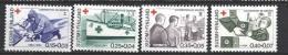 Finlande 1964 N° 561/564 Neufs ** MNH Surtaxe Croix Rouge