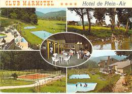 12 - CROUZET ( SAINT GENIEZ D'OLT ) Hotel Club MARMOTEL ( Piscine Tennis )  CPSM GF - Aveyron - France