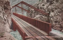 Hanging Bridge In The Royal Gorge ,Colo - Scan Recto-verso - Etats-Unis