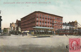Harrisburg - Cmmonwealth Hotel And Market Square  - Pa   - Scan Recto-verso - Harrisburg
