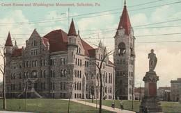Scranton -  Court House And Washington Monument   - Pa   - Scan Recto-verso - Etats-Unis