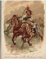CHROMO - UNIFORMES -Cuirassiers De La Moskova 1912 -  Publicité Ricqlès - - Divise
