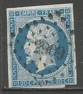 France - Obl. PC 2909 SOISSONS Sur Timbre Napoleon III N° 14A - Marcophilie (Timbres Détachés)
