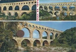 GARD - 30 - VERS - Le Pont Du Gard - CPSM GF Couleur Multivues - France