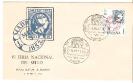 Carta  Con Matasellos Feria Nacional Del Sello 1973 - 1931-Aujourd'hui: II. République - ....Juan Carlos I