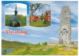 Alstahaug Norway Church Monument, C1980s Vintage Postcard - Norvège
