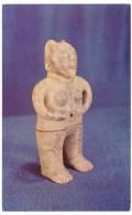 Costa Rica, Musuem Figurine Chorotegan Indian Female Statuette Figure, C1960s Vintage Postcard - Costa Rica