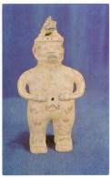 Costa Rica, Musuem Figurine Chorotegan Indian Male Statuette Figure, C1960s Vintage Postcard - Costa Rica