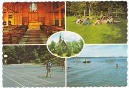 Spicer Minnesota, Green Lake Lutheran Bible Camp, Summer Camp, Tennis, Church Swimming, C1970s Vintage Postcard - United States