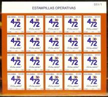 COLOMBIA 2011.03.22 [2679-1] Estampillas Operativas - New (Sheet) - Colombia