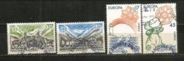 Protection Nature (Isard,poisson,etc)  EUROPA 1986.  4 Timbres Oblitérés 1 ère Qualité. NO PJ - Andorre Français