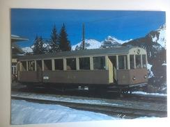 5652 - Suisse Bergbahn Lauterbrunnen-Mürren   Automotrice électrique BFe 2/4 II (Format 10 X 15) - Trains