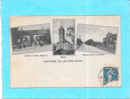 DEPT 57 - Souvenir De QUATRE VENTS - MULTI-VUES INTROUVABLE Sur Le Site - Epicerie Cantin,eglise - ENCH0616 - - Otros Municipios