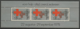 Nederland Netherlands Pays Bas 1978 B18 - Mi 1125 ** Red Cross On World Map / Rotes Kreuz Vor Weltkarte / Rode Kruis - Periode 1949-1980 (Juliana)