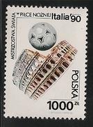 Poland: 1990 World Cup Football Championships, Italy MNH - 1944-.... République