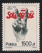 Poland: 1990 Solidarity Trade Union MNH - 1944-.... Republik