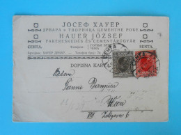 JOZEF HAUER ... SENTA , Vojvodina ( Serbia)  Travelled 1927.  To WIEN ( Austria ) * Postal Stationary - Serbia